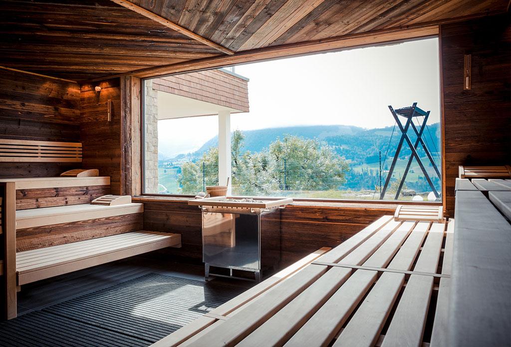 wellness und spa panorama sauna im bergkristall. Black Bedroom Furniture Sets. Home Design Ideas